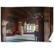 Police talking in the Palazzo del Capitano Verona Italy 19840419 0046 Poster