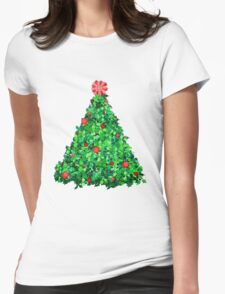 Holly Tree Womens Fitted T-Shirt