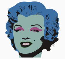 Blue Marilyn Monroe Kids Tee