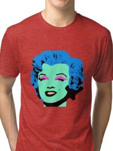 Blue Marilyn Monroe Tri-blend T-Shirt