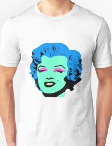 Blue Marilyn Monroe Unisex T-Shirt