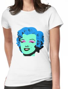 Blue Marilyn Monroe Womens Fitted T-Shirt