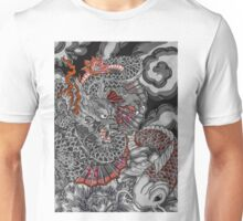 Dragon and koi fish Unisex T-Shirt