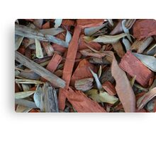 LEAVES AND WOODCHIPS Canvas Print