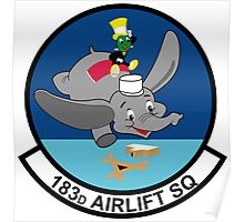 183rd Airlift Squadron Poster