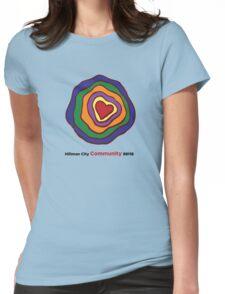 Hillman City community heart Womens Fitted T-Shirt
