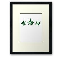 Weed Graffiti Framed Print