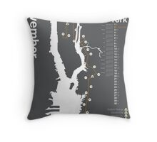 New York City Marathon Map 2014 Throw Pillow
