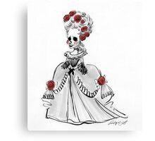 Skeleton Primadona Canvas Print