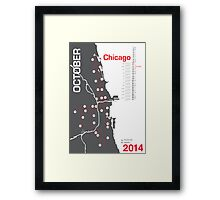 Chicago Marathon Map 2014 Framed Print