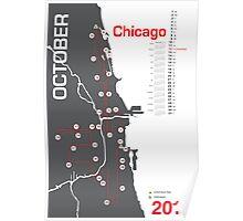 Chicago Marathon Map 2014 Poster