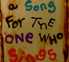 a song for the one who sings by songsforseba
