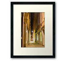 Narrow street Framed Print