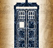 Filigree TARDIS Paper by Christina McEwen