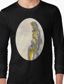 Yellow to Grey Long Sleeve T-Shirt