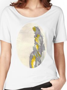 Yellow to Grey Women's Relaxed Fit T-Shirt