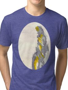 Yellow to Grey Tri-blend T-Shirt