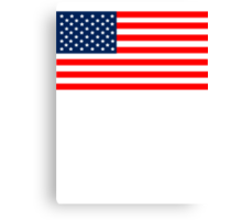 Flag of the United States of America Canvas Print