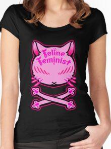 Feline Feminist Women's Fitted Scoop T-Shirt
