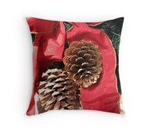 Christmas Decoration - Ye Olde White Harte Hotel Throw Pillow