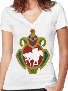 Mauritius Horse Racing Women's Fitted V-Neck T-Shirt