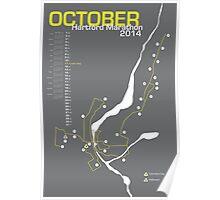 Hartford Marathon Map 2014 Poster