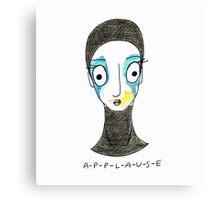 Applause Cartoon  Canvas Print