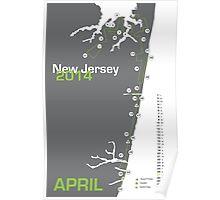 New Jersey Marathon Map 2014 Poster