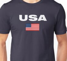 USA Horizontal WHITE Unisex T-Shirt