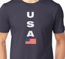 USA Vertical WHITE Unisex T-Shirt