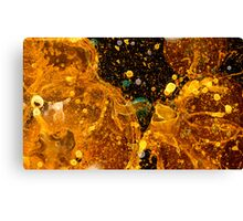 Bubble Grunge in Gold Canvas Print