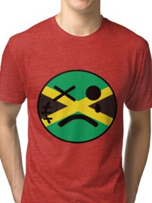 Jamaican Smiley Tri-blend T-Shirt