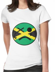 Jamaican Smiley Womens Fitted T-Shirt