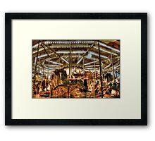 le carrousel. Framed Print