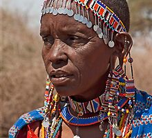 Mature Masai Woman by phil decocco