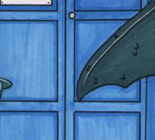 Toothless & Tardis (Sketch sticker) Sticker