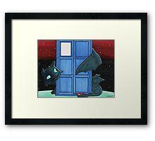 Toothless & Tardis (Sketch sticker) Framed Print
