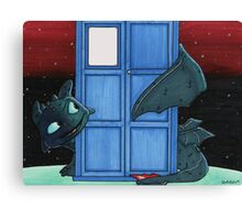 Toothless & Tardis (Sketch sticker) Canvas Print