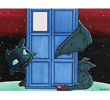 Toothless & Tardis (Sketch sticker) Photographic Print