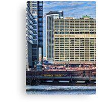 Chicago Sun Times & Monroe Street Bridge  Canvas Print