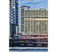 Chicago Sun Times & Monroe Street Bridge  Photographic Print