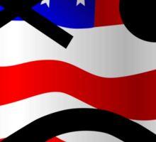 American Edition Smiley Sticker