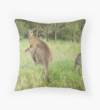 Kangaroos 6 Throw Pillow