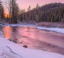 Teanaway River Sunset by Jim Stiles