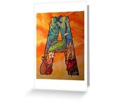 The Letter A Full Painting  Greeting Card