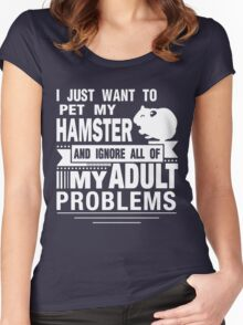 I JUST WANT TO PET MY HAMSTER Women's Fitted Scoop T-Shirt