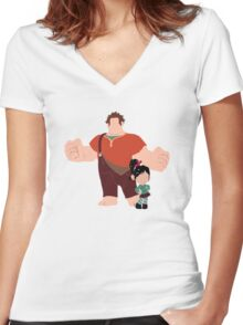 The Dynamic Duo Women's Fitted V-Neck T-Shirt
