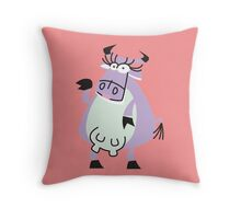Cool Cow Posing!!! Throw Pillow