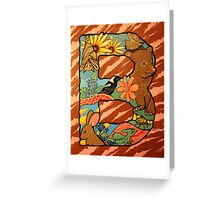 The Letter B Full Painting Greeting Card