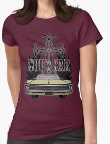 God's car Womens Fitted T-Shirt